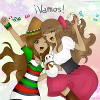 [ArtTrade]: //APH// Mexico y Argentina by FrancyTheHedgehog