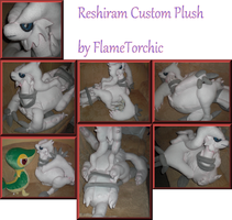 Big Reshiram Plush by FlameTorchic