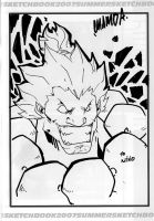 SDCC sketch Akuma by theCHAMBA