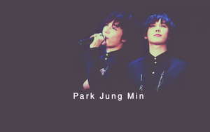 Park Jung Min -- wallpaper by BeeBKawaii