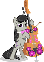 Octavia and the Cello cannon by Vector-Brony