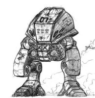 Mech doodle by Muoteck