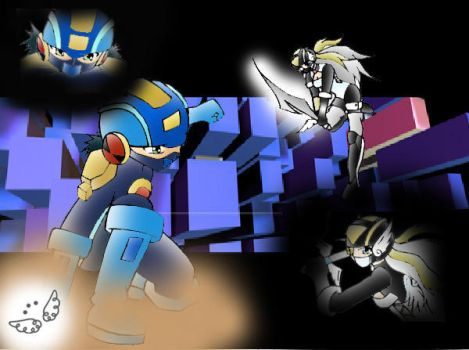 FIGHT MEGAMAN VS ANGEL by Dawnrie