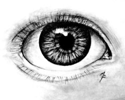 Eye pencil drawing by MadE14