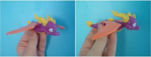 My Spyro the Dragon mini-toy by Sweet-Blessings