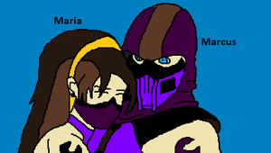 Maria and Marcus friendly cuddle by Natalia-Clark