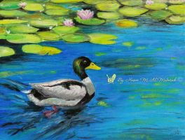 Duck by : oil color by HasanMHM