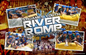 River Romp Trip Poster by Treybacca