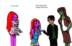 Jess meet the young justice by Mewkuro12