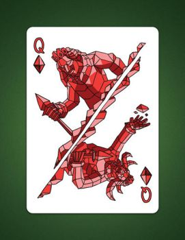My Queen Of Diamonds aka Queen Of Earth Drawing by LineDetail