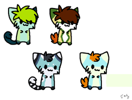 Kitty Adoptables Batch - OPEN. by Wolfies-Creatures