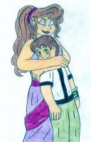 Megara and Ben 10 by Jose-Ramiro