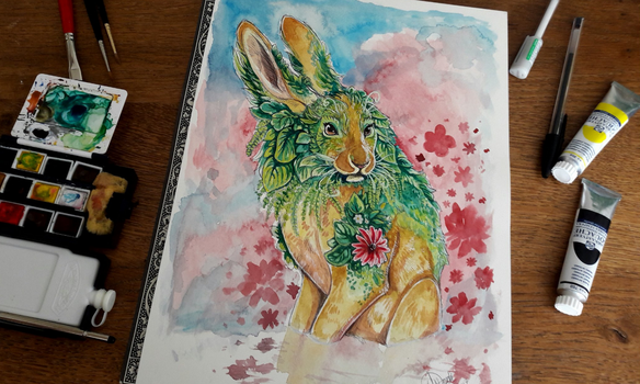 Watercolor - Verdant by NadiavanderDonk