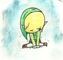Sad Toon Link is Sad by ZettaAwesome