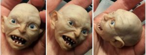 GOLLUM sculpture - polymer clay action figure by frybla