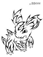 #030: Tribal Nidorina by blackbutterfly006
