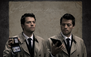 Castiel Wallpaper I by SkeletonHorror