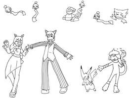 BF - Dance Dance - outlines by Sixala