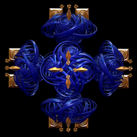 Blue Celtic Cross by fraxialmadness3