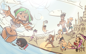 lets go to the beach each by hielorei