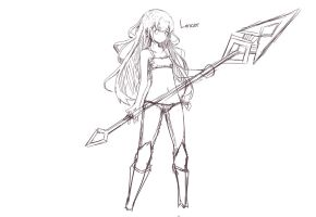Female Lancer by Kauru00