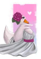 Romantic goose by Odrobinka