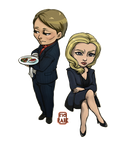 Hannibal - Drs Lecter and Du Maurier by Ciorane