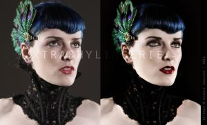 Peacock Couture Re-Touch by xtrashylingerie