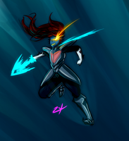 Undyne the Undying by zylladys