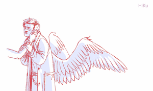 Destiel wings by Hi-Ku