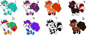 Vulpixs Point Adoptibles. by CITYLlGHTS