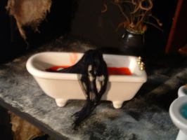 Haunted House Grudge Tub2 by DollzMaker