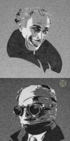 Gwynplaine and Invisible Man Stencils by SilverDrgnbane