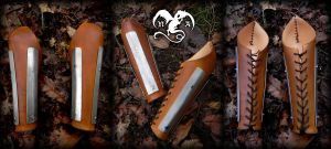 Viking bracers by Noir-Azur