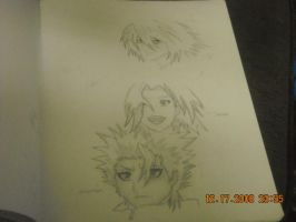 Drwing of Toshiro Sakura and L by StaticFOOL100