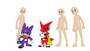 Requested-Digimon Base by TFAfangirl14