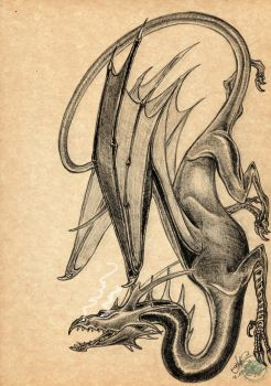 Lord of the Rings - Ancalagon the Black by DeathLawliet