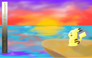 Puka the Surfing Pikachu by Pikachu-And-Umbreon