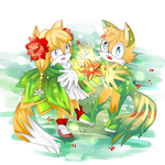 :AT: Tailsmo child : Our flower by Euraysia