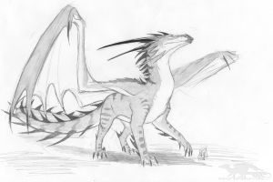 121118 Sketch dragon by axe-ql