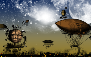 Dirigible Wallpaper by DaumenHochFuenf