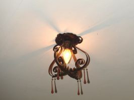 Amber Drop Light Fixture 1 by FantasyStock