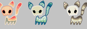 SKull kittie adopts by Detective7