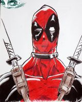Exercise 2 : ballpoint pen [DeadpOol ] by Johan-SataNik