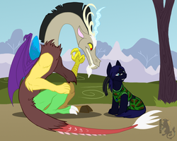 Evil plotting by Husgryph
