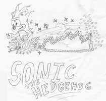 Drawing Sonic, age 11 by gsilverfish