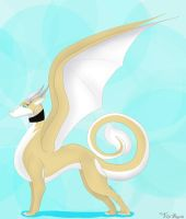 Sugar's dragon form by KittyCaie