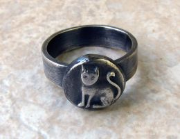 Quirky Kitty Ring by indyspireArt