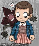 Stranger Things - Eleven by amy-art