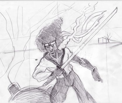 Afro Samurai Sketch by Sir-Unforgiven